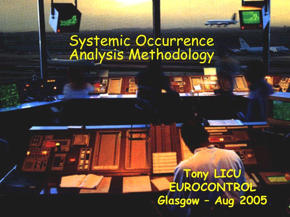 © Dédale & EUROCONTROL Systemic Occurrence Analysis Methodology Tony LICU EUROCONTROL Glasgow – Aug 2005