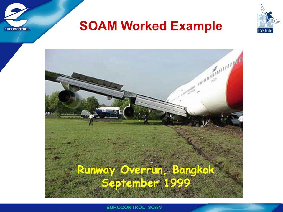 EUROCONTROL SOAM SOAM Worked Example Runway Overrun, Bangkok September 1999