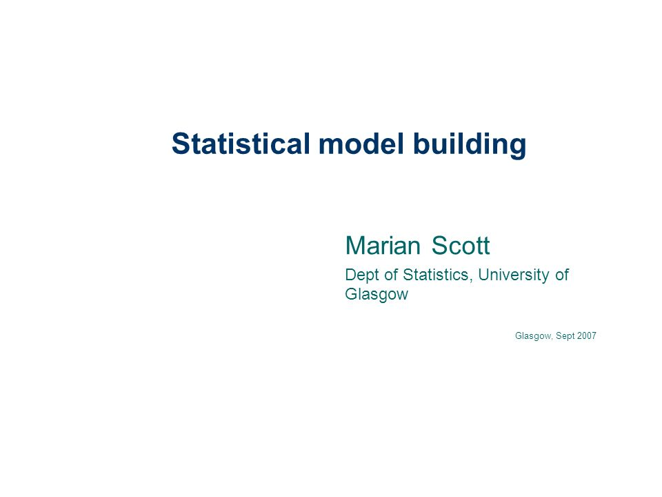 in summary model building is iterative should combine statistical skills and scientific knowledge think about your objectives, think about the data model selection- many different approaches uncertainty is a factor at all stages and should be considered.