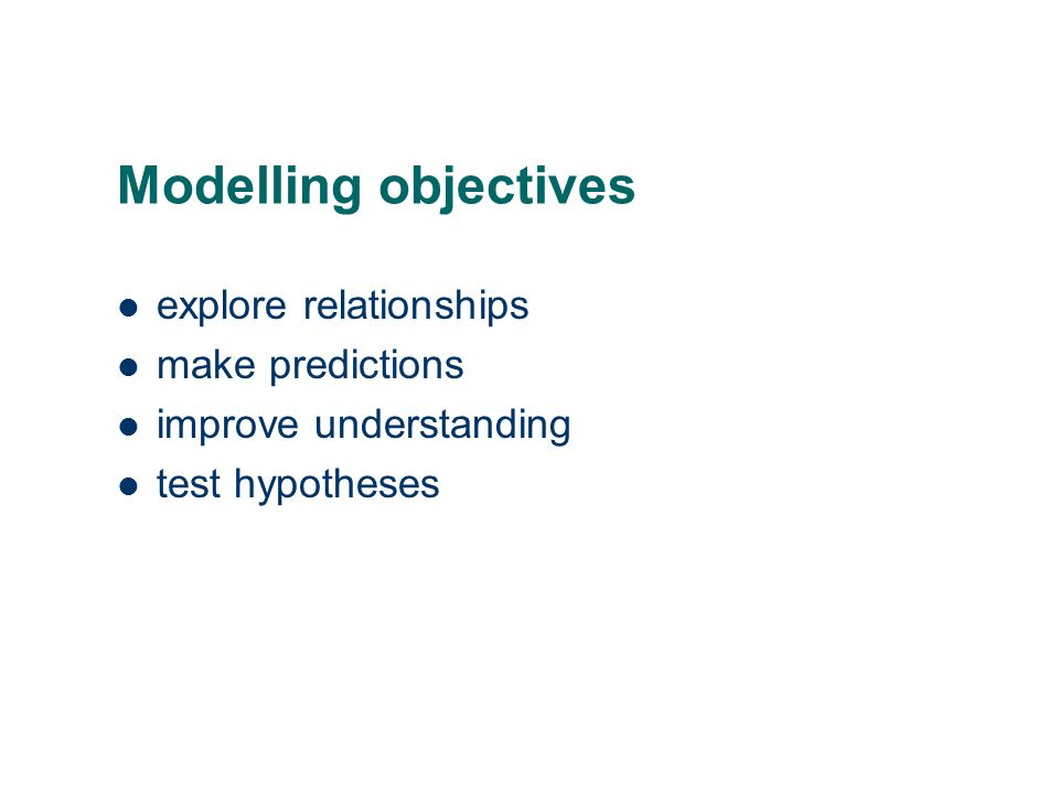 the statistical approach to model building and selection in a regression situation, we may have many potential explanatory variables, how do we choose which to include in the final model.