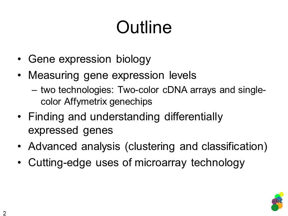 43 Classical study of cancer subtypes Golub et al. (1999) identification of diagnostic genes
