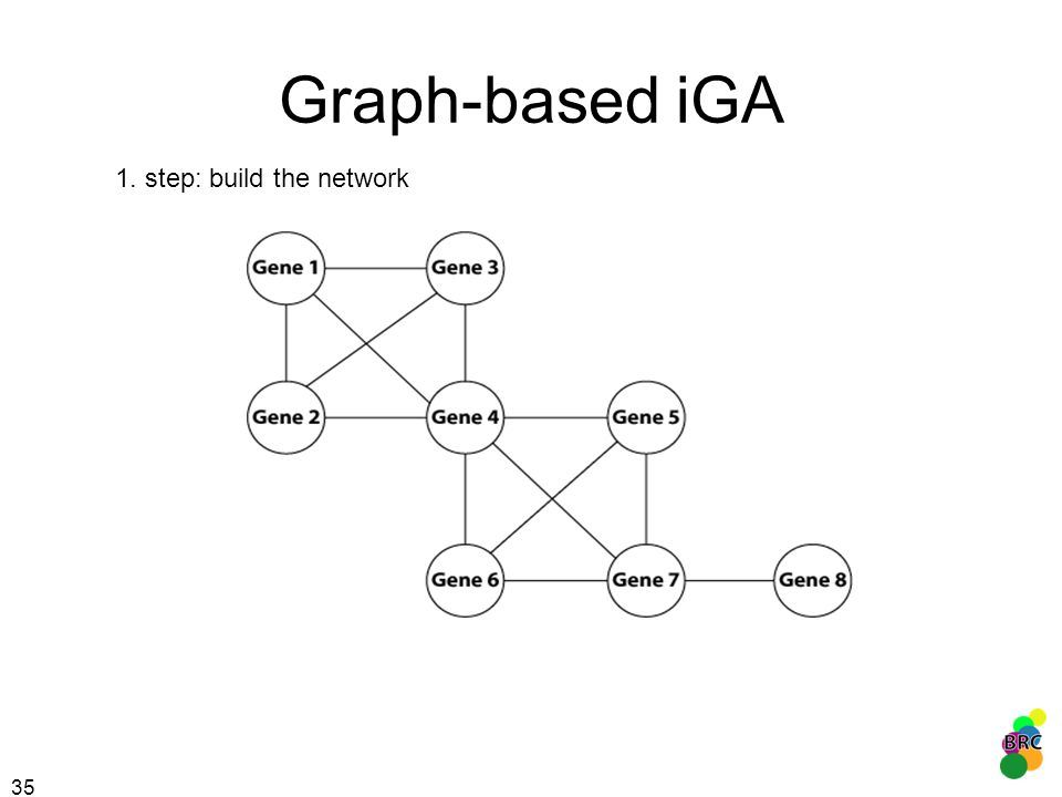 35 Graph-based iGA 1. step: build the network