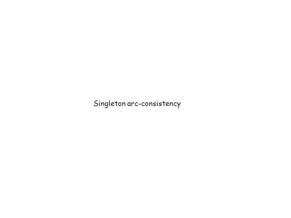 Singleton arc-consistency