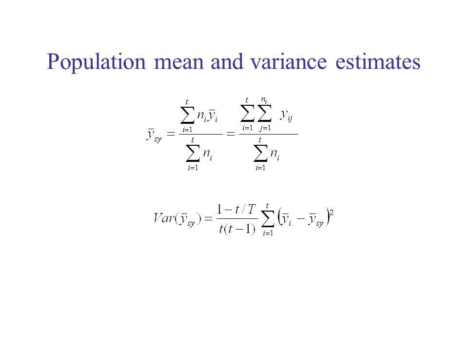 Population mean and variance estimates