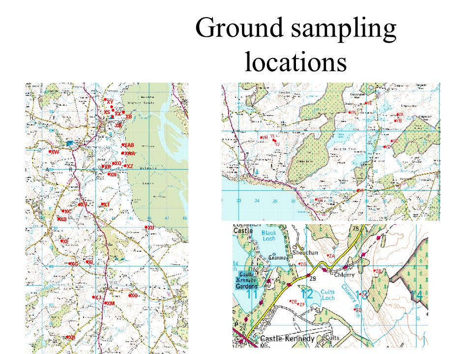 Ground sampling locations