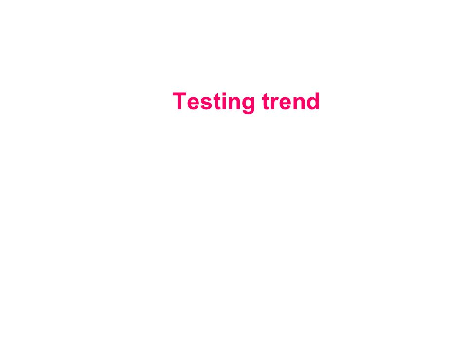 Testing trend