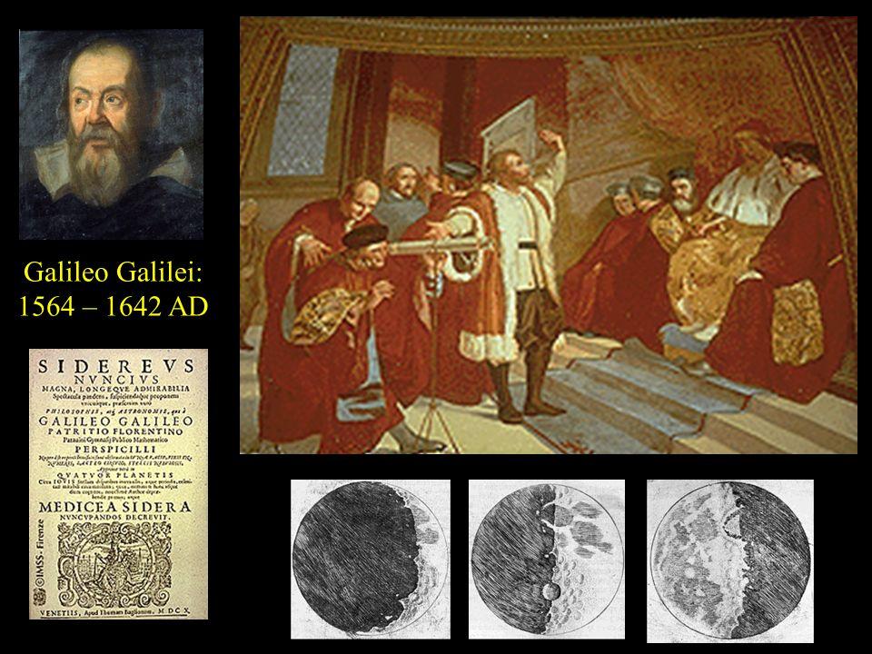 Galileo Galilei: 1564 – 1642 AD
