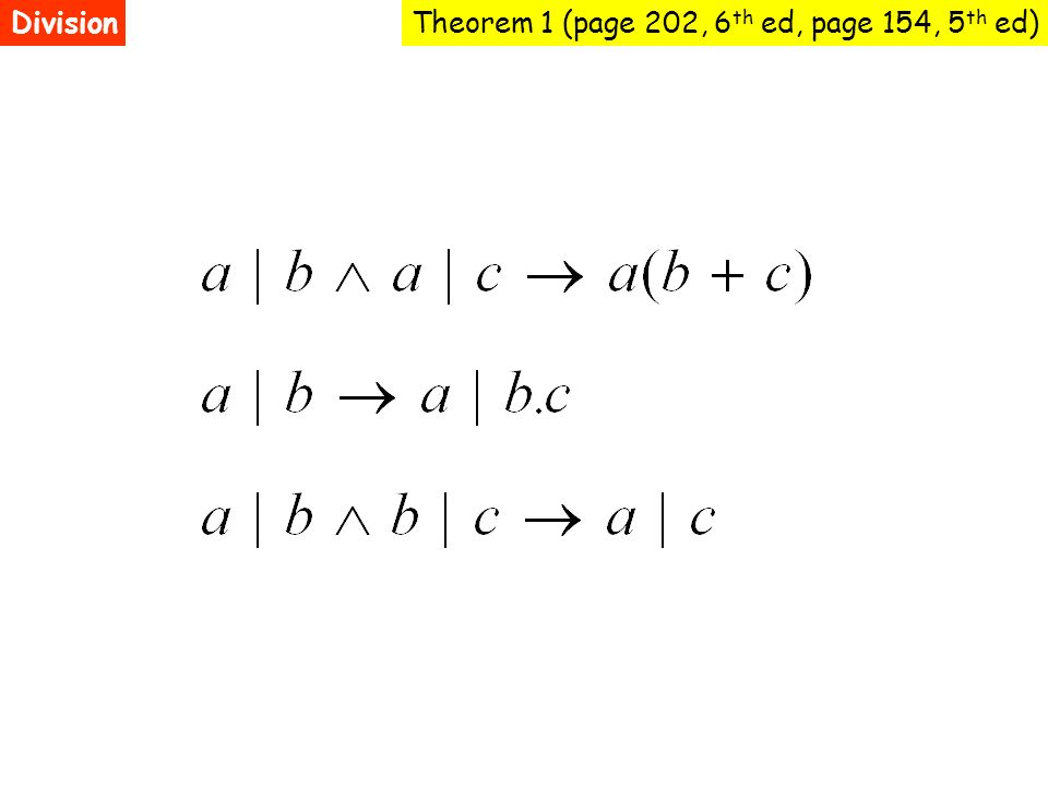 Theorem 1 (page 202, 6 th ed, page 154, 5 th ed)