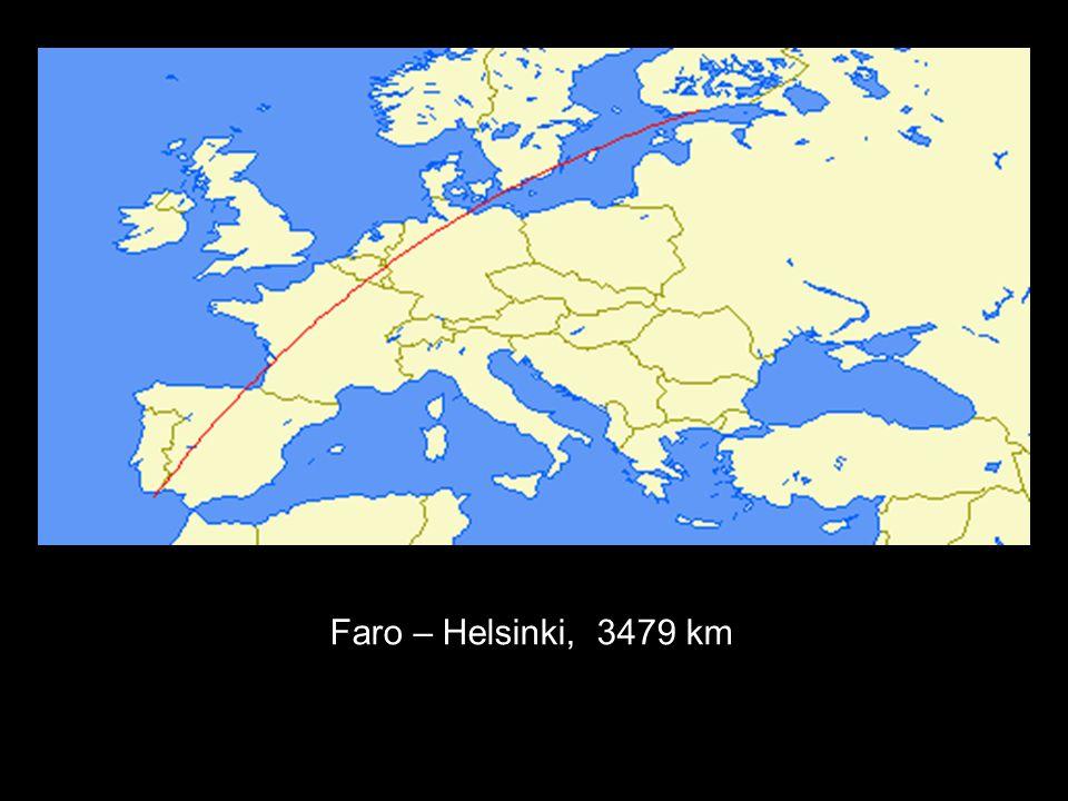 Faro – Helsinki, 3479 km