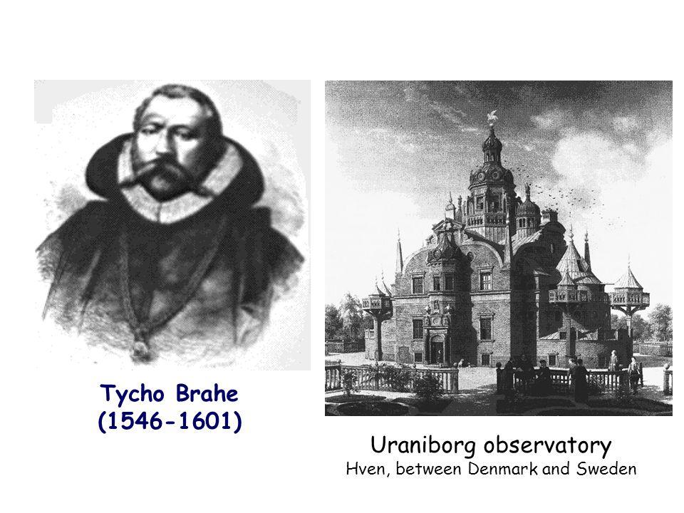 Tycho Brahe (1546-1601) Uraniborg observatory Hven, between Denmark and Sweden