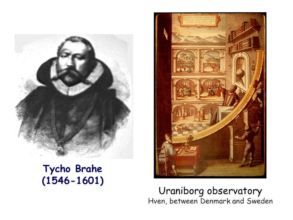 Uraniborg observatory Hven, between Denmark and Sweden Tycho Brahe (1546-1601)