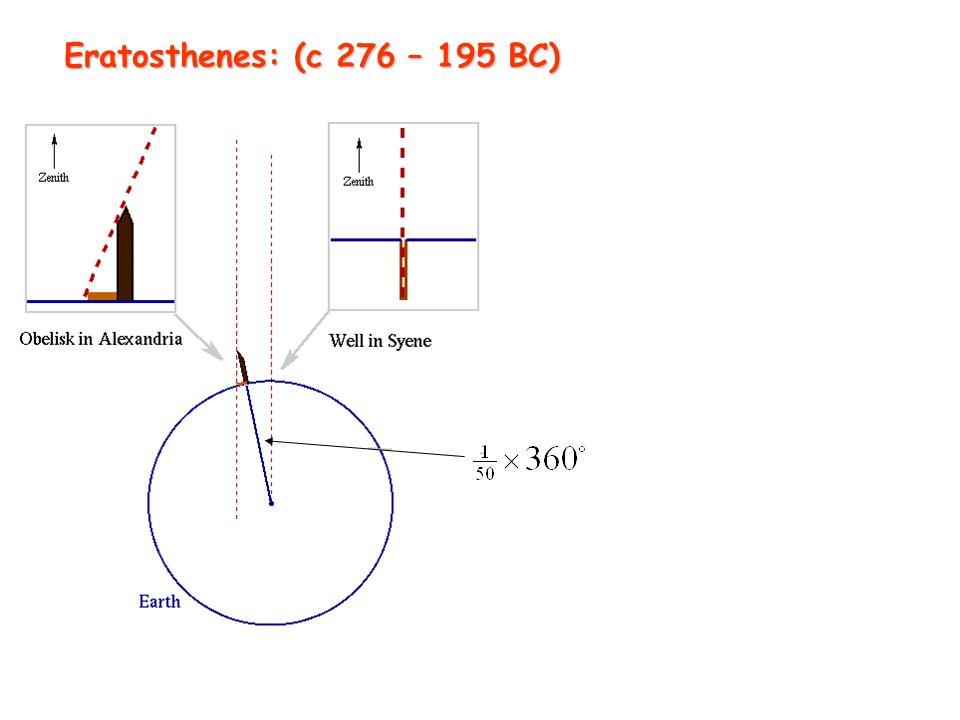 Eratosthenes: (c 276 – 195 BC)