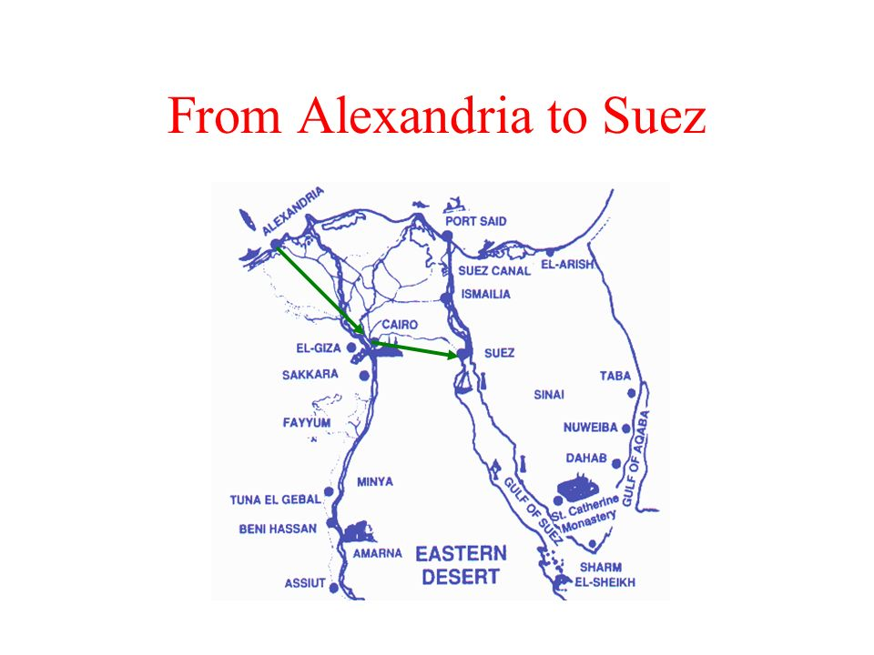 From Alexandria to Suez