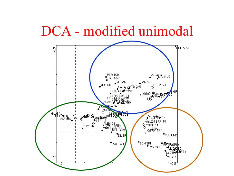 DCA - modified unimodal