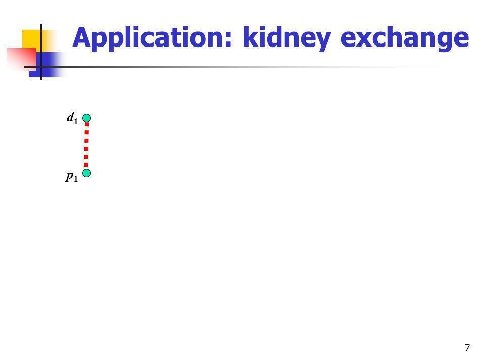 7 Application: kidney exchange d1d1 p1p1