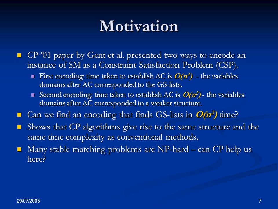 29/07/ Motivation CP 01 paper by Gent et al.