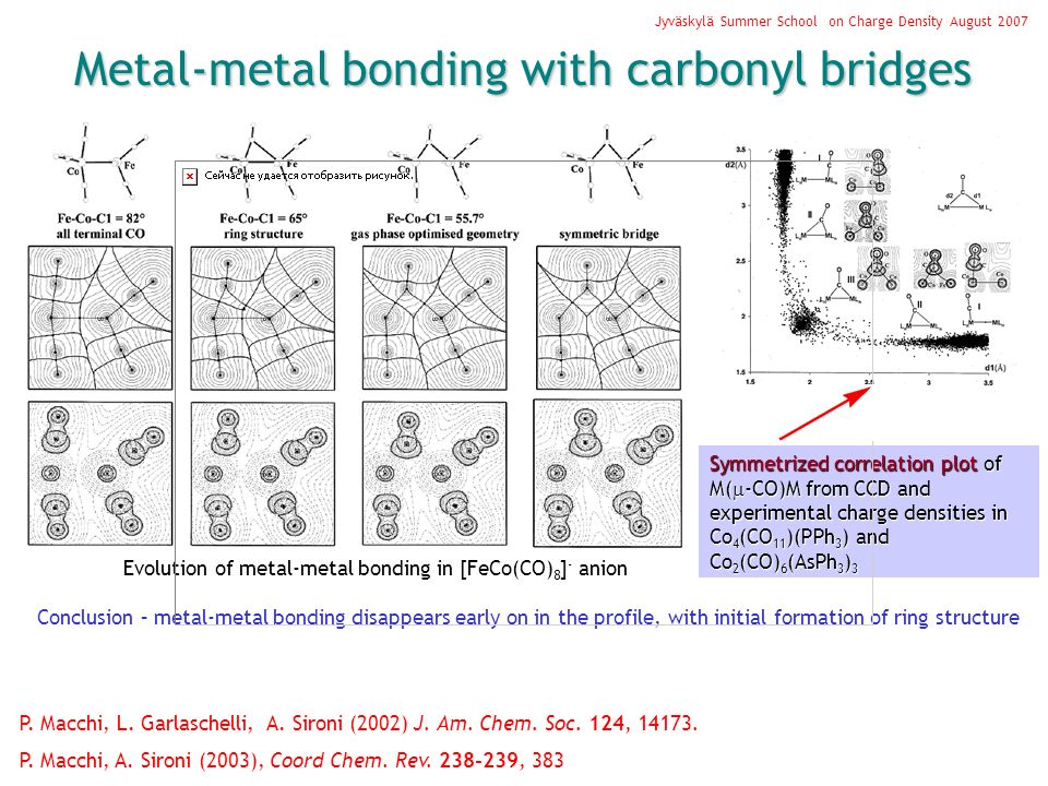 Metal-metal bonding with carbonyl bridges P. Macchi, L.