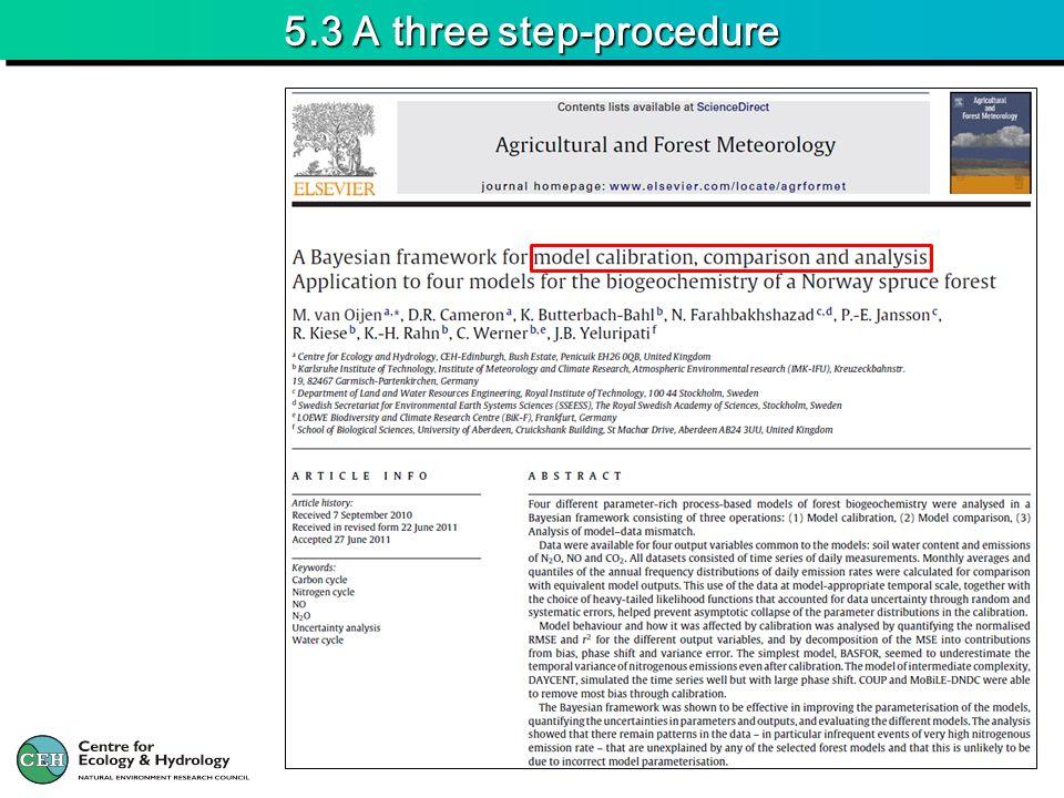 5.3 A three step-procedure