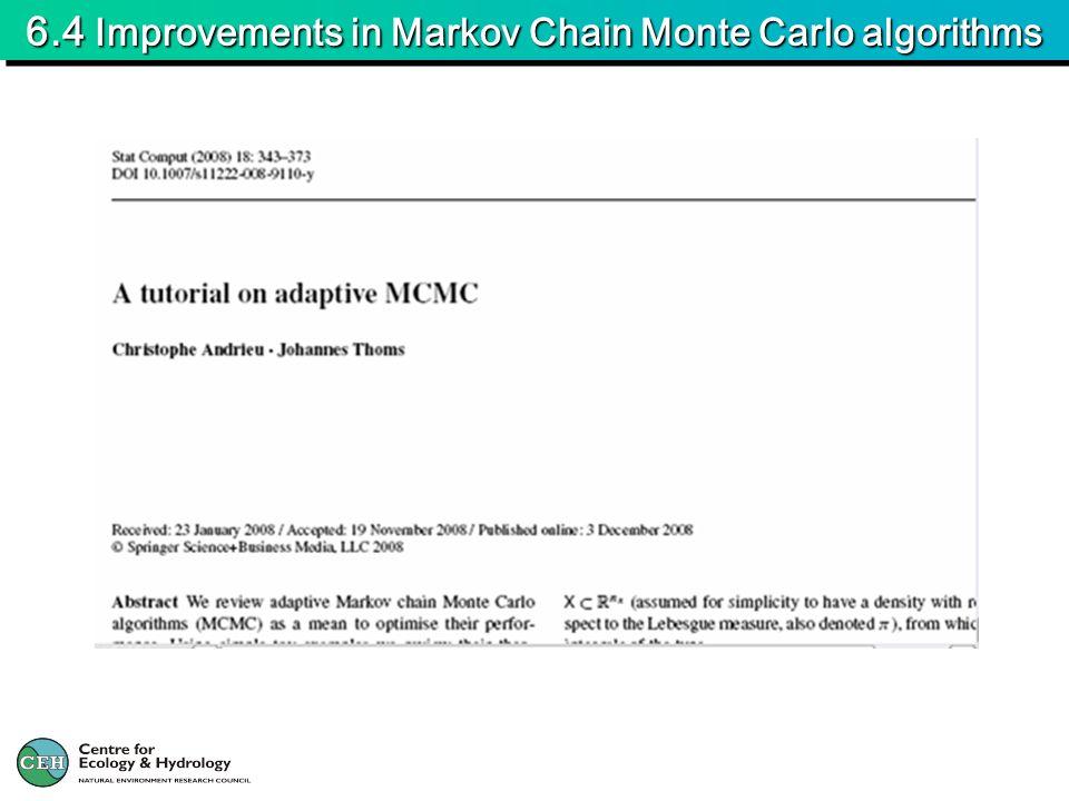 6.4 Improvements in Markov Chain Monte Carlo algorithms