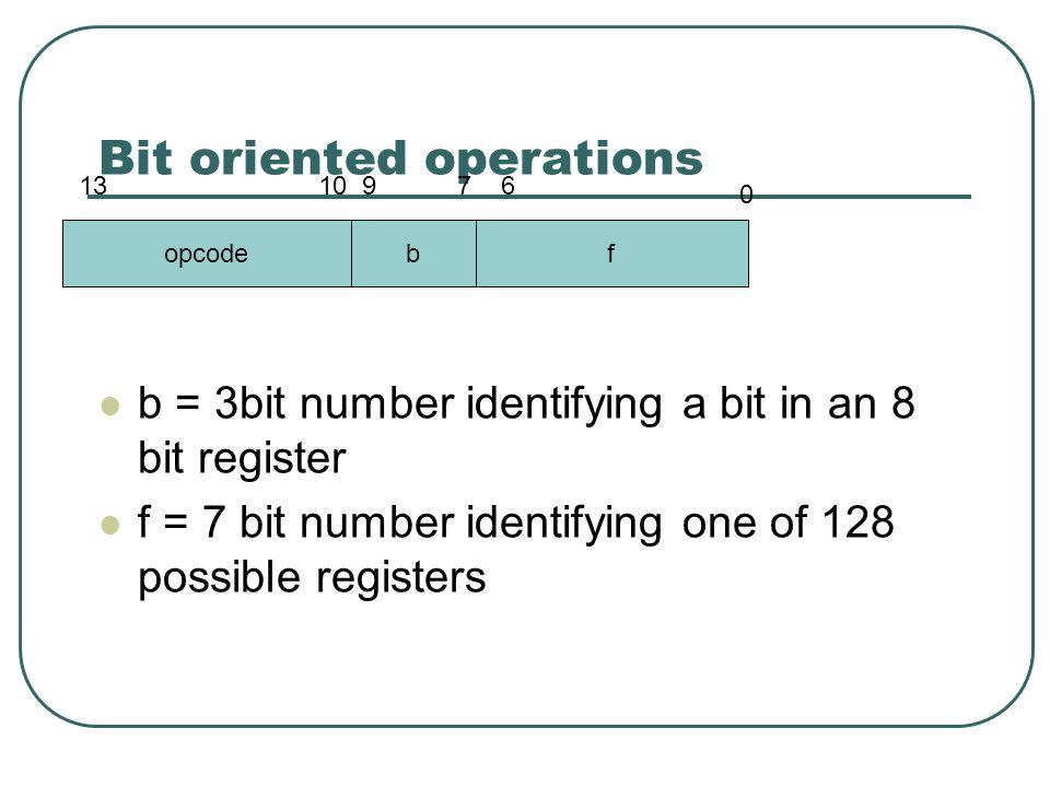 Next step Address opcode assembler 5 2007 CALL 0x7 6 2805 GOTO 0x5 7 0AA2 INCF 0x22, F 8 0008 RETURN stack holds address to return to
