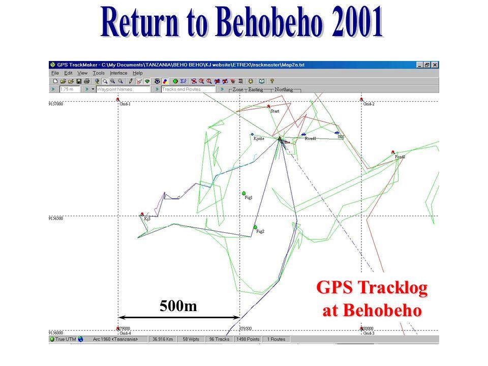 500m GPS Tracklog at Behobeho