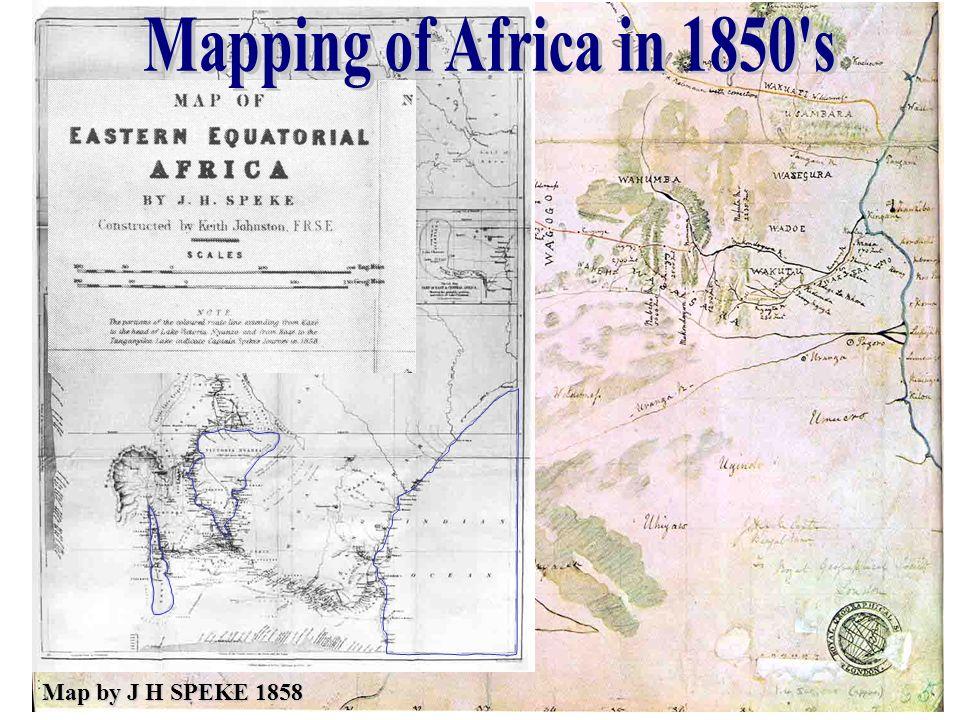 Map by J H SPEKE 1858