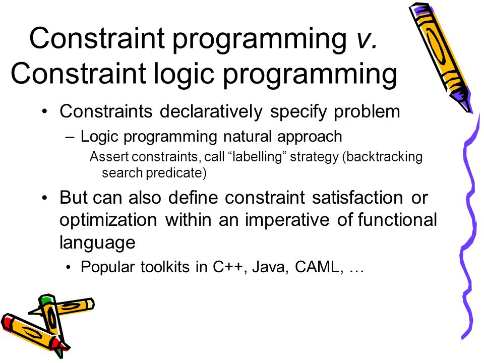 Constraint programming v.