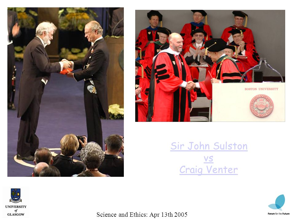 Sir John Sulston vs Craig Venter