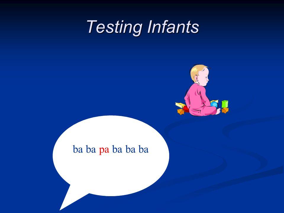 Testing Infants ba ba pa ba ba ba