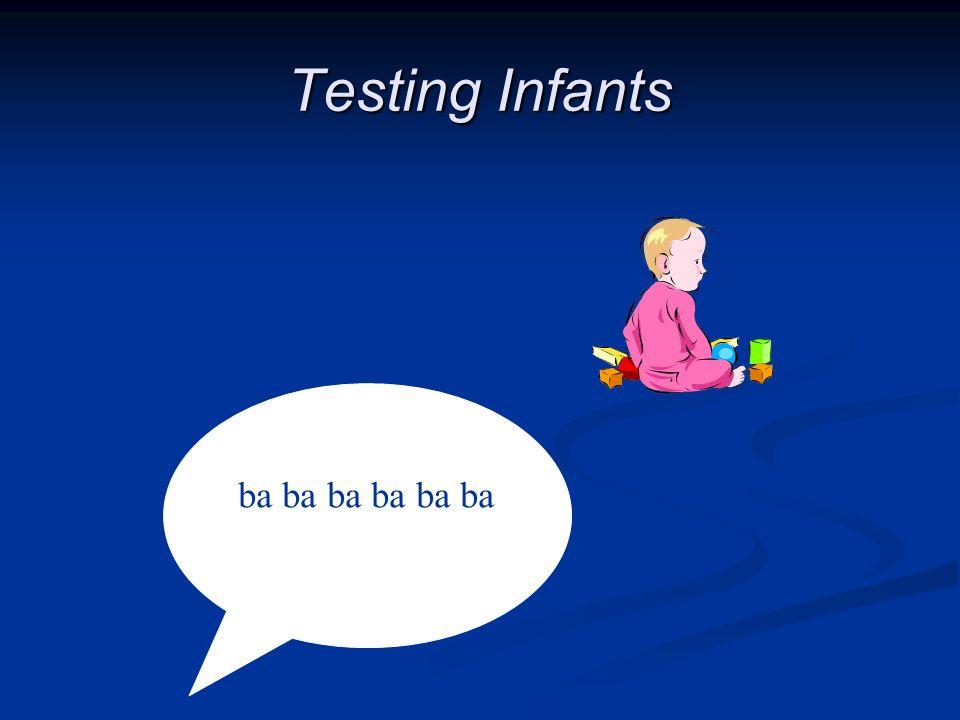 Testing Infants ba ba ba