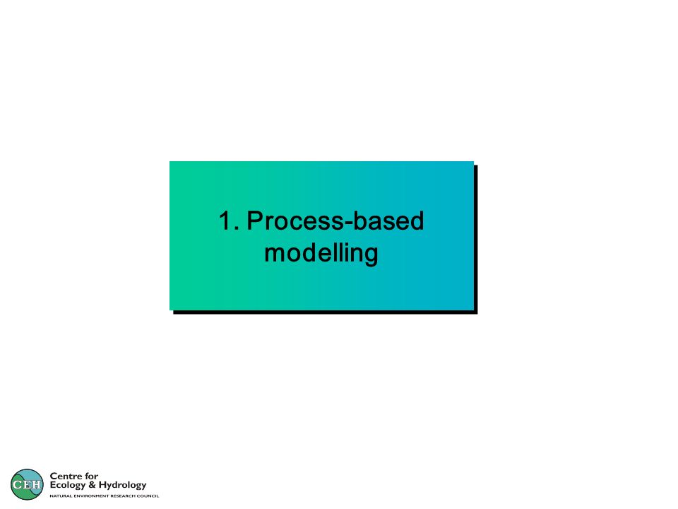 1. Process-based modelling