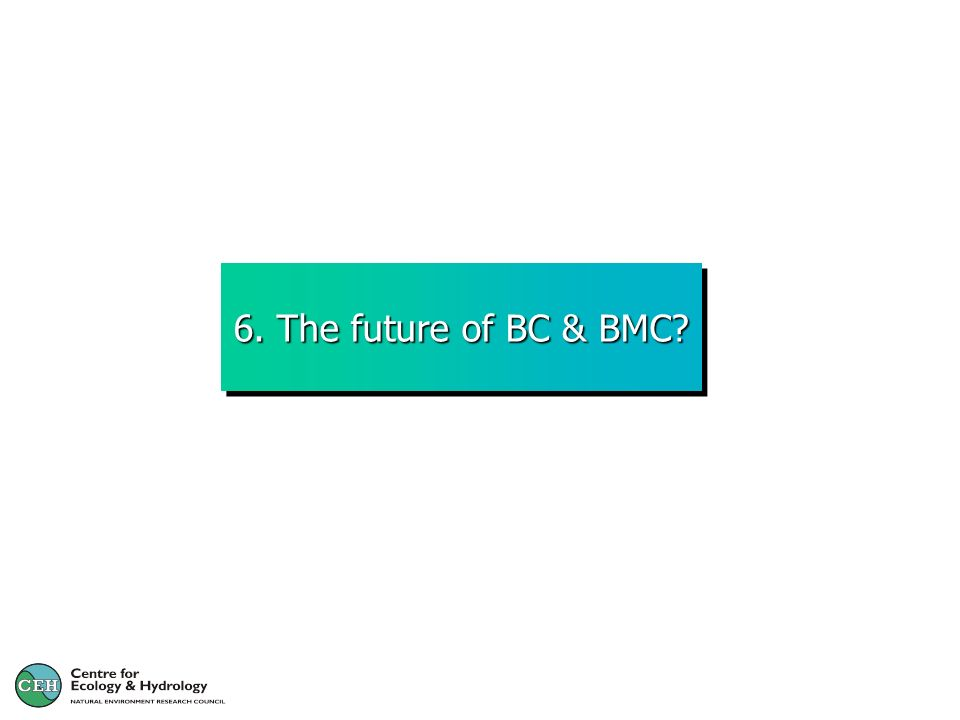 6. The future of BC & BMC