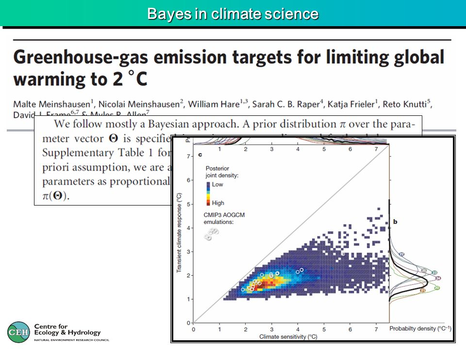 Bayes in climate science