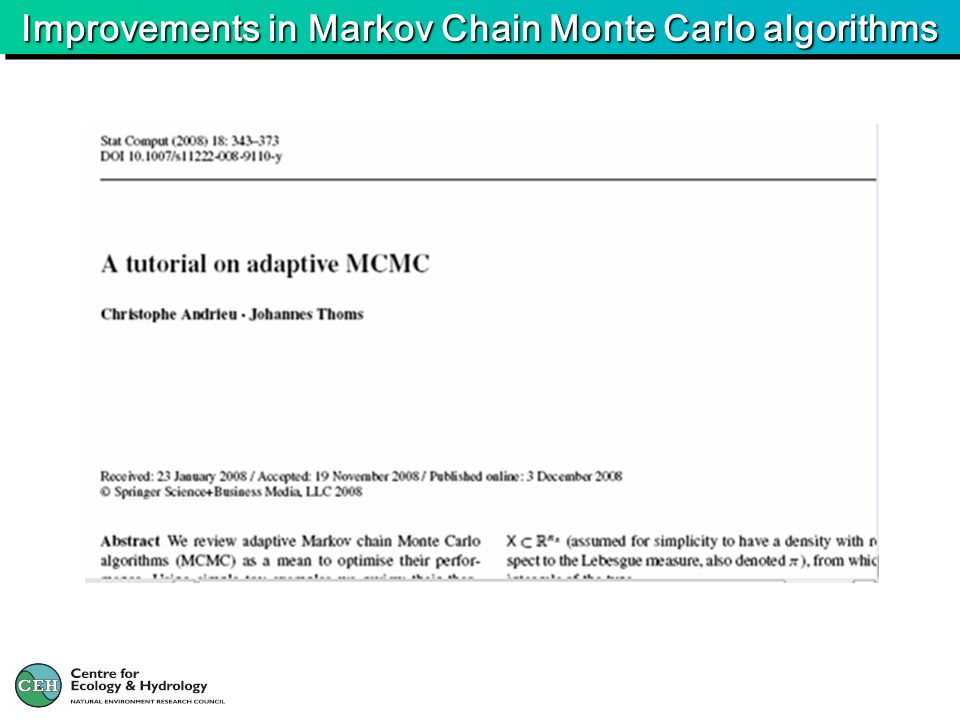 Improvements in Markov Chain Monte Carlo algorithms