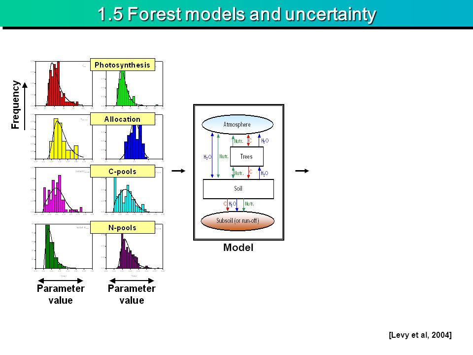 1.5 Forest models and uncertainty Model [Levy et al, 2004]