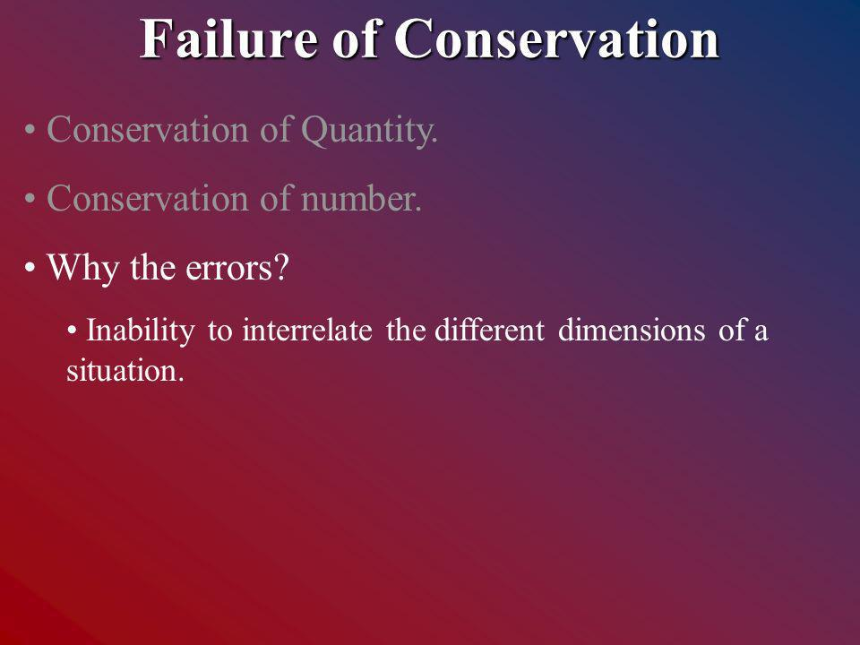 Conservation of Quantity. Conservation of number.