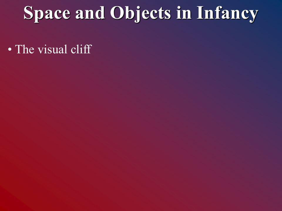 Space and Objects in Infancy The visual cliff