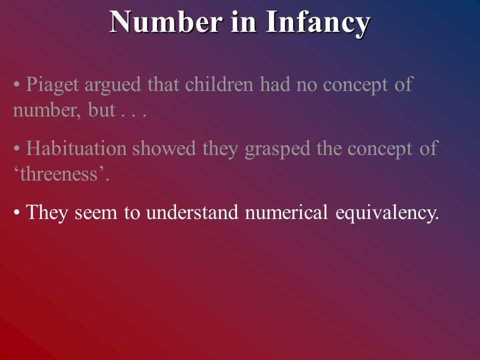 Piaget argued that children had no concept of number, but...