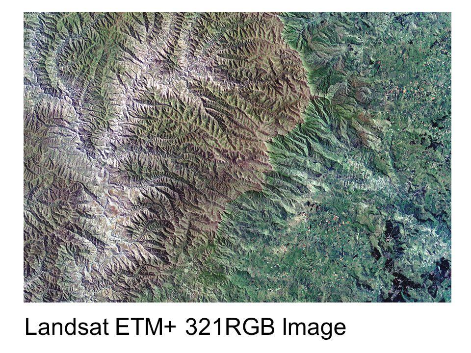 Landsat ETM+ 321RGB Image