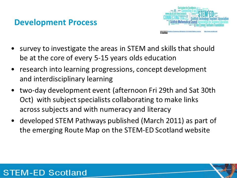 Development Process survey to investigate the areas in STEM and skills that should be at the core of every 5-15 years olds education research into lea