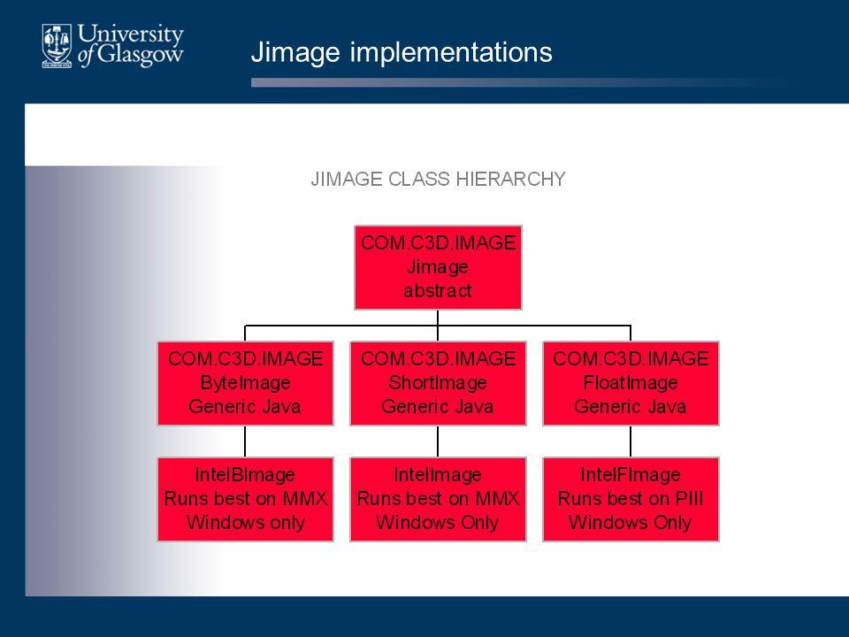 Jimage implementations