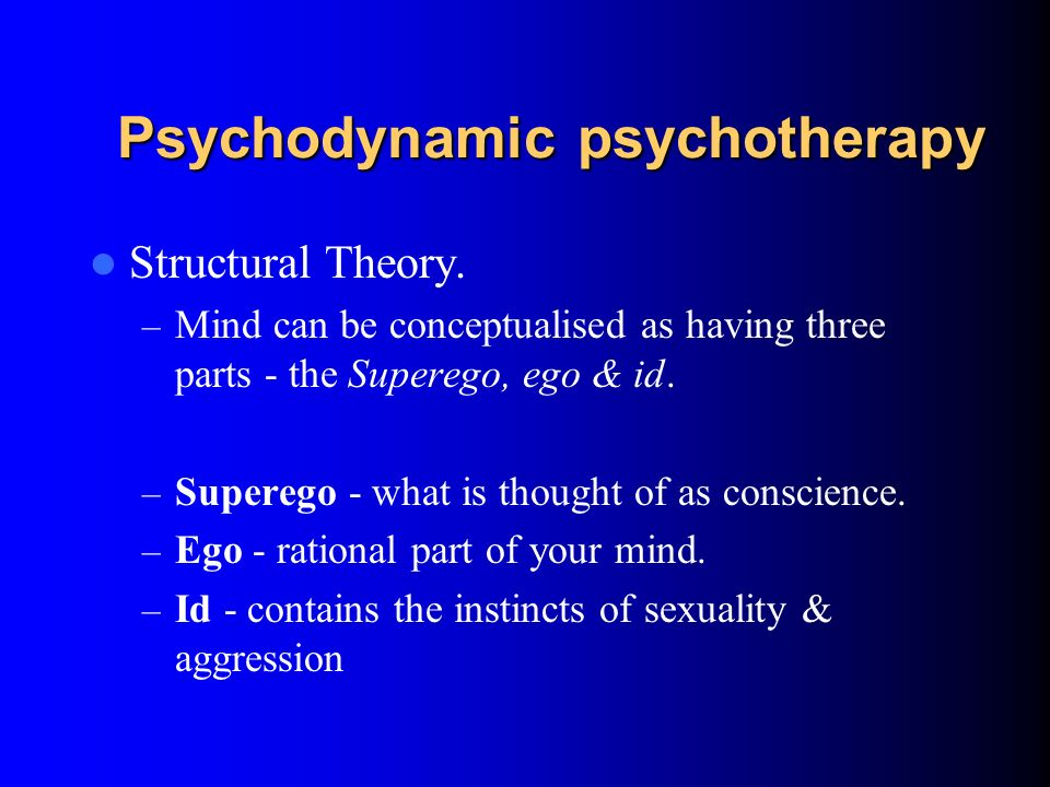 Psychodynamic psychotherapy Topographical theory & unconscious mind. – Conscious and unconscious mind – Unconscious thoughts and feelings which influe