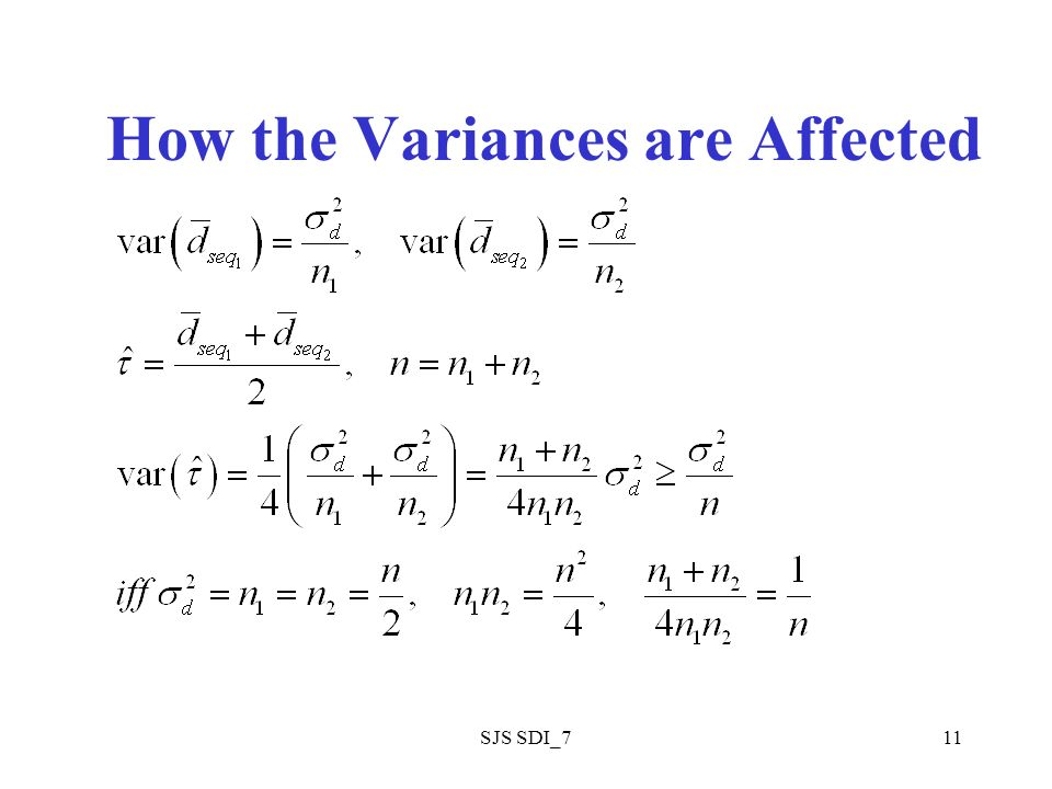 SJS SDI_711 How the Variances are Affected