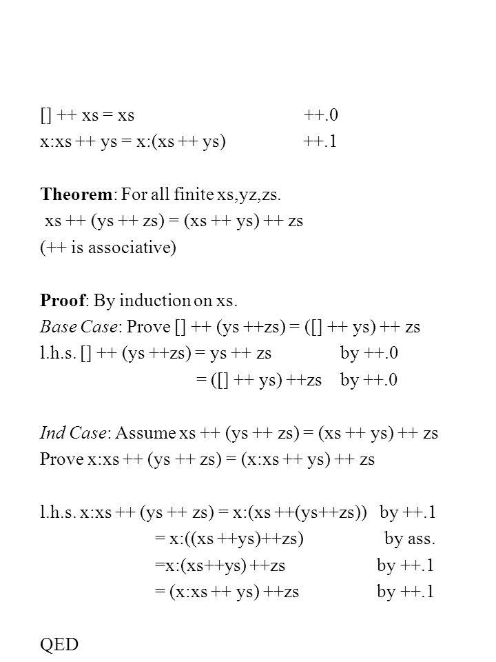 member :: String -> Char -> Bool member [] y = False m.0 member (x:xs) y = (x==y)    member xs y m.1 False    x = x or.0 True    x = True or.1