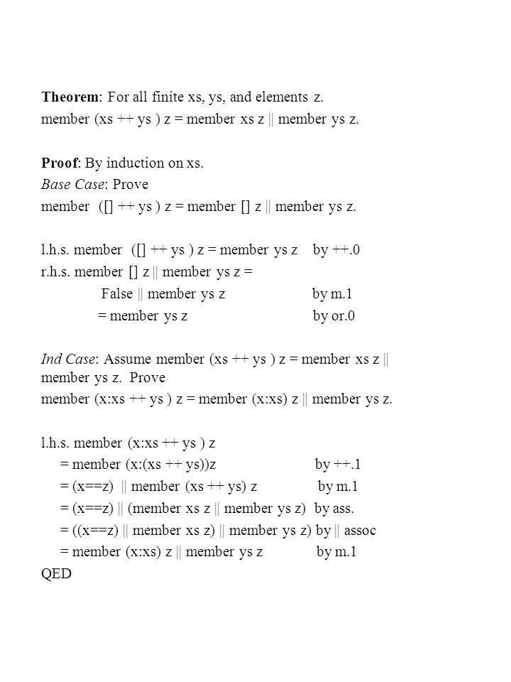 An Exercise prove that    is associative. Question: Why dont we need induction?