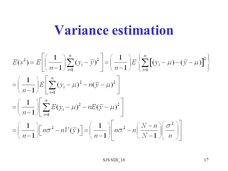 SJS SDI_1617 Variance estimation