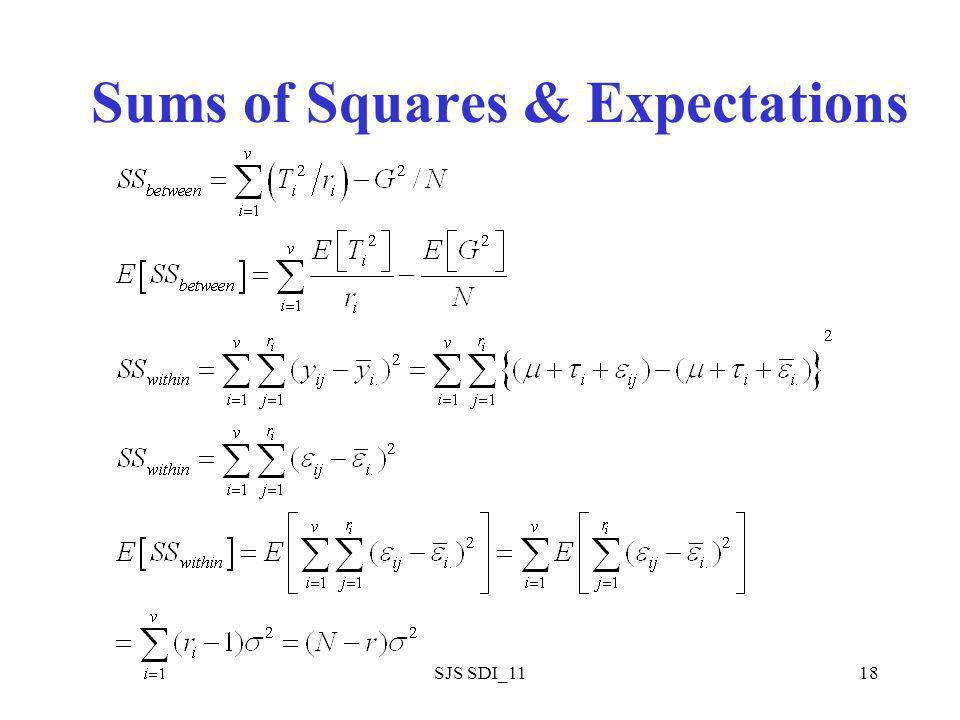 SJS SDI_1118 Sums of Squares & Expectations