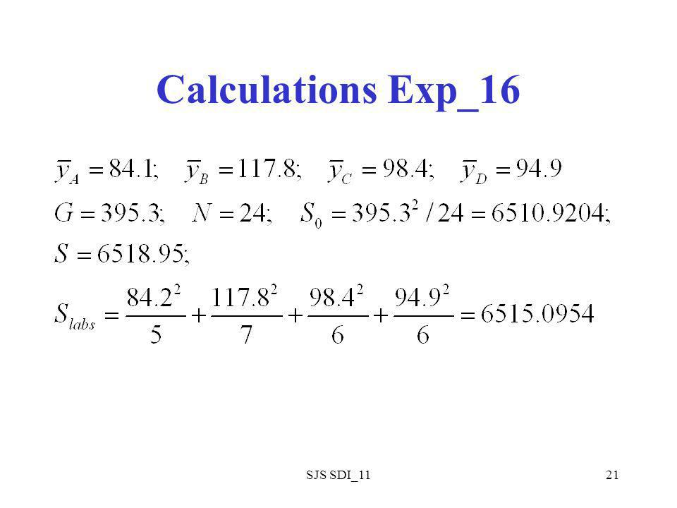 SJS SDI_1121 Calculations Exp_16