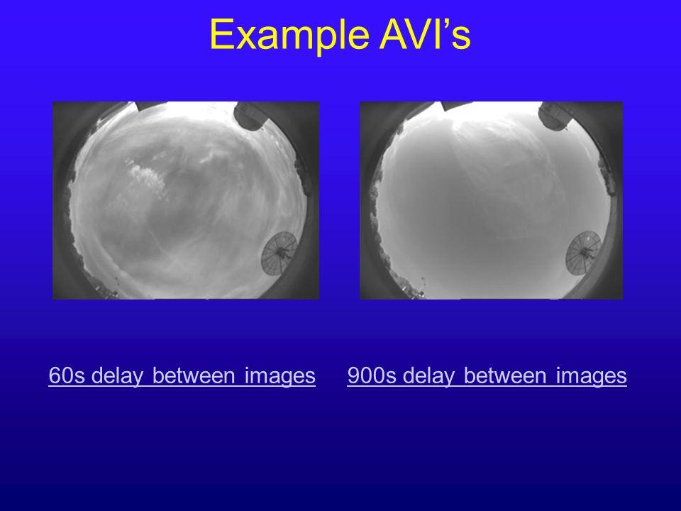 Example AVIs 60s delay between images900s delay between images