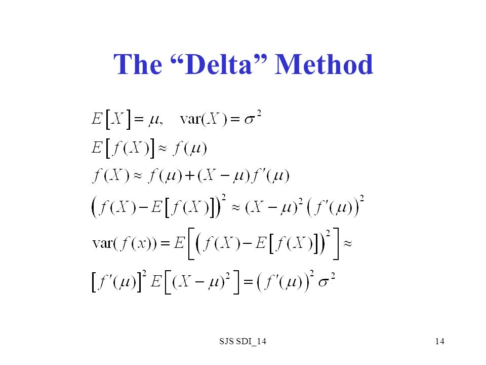 SJS SDI_1414 The Delta Method
